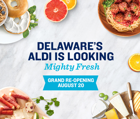 Delaware's ALDI is looking mighty fresh. Grand Re-opening August 20.