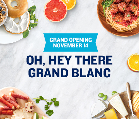 Grand Opening November 14. Oh, hey there Grand Blanc.