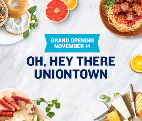 Grand Opening November 14. Oh, hey there Uniontown.