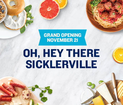 Grand Opening November 21. Oh, hey there Sicklerville.