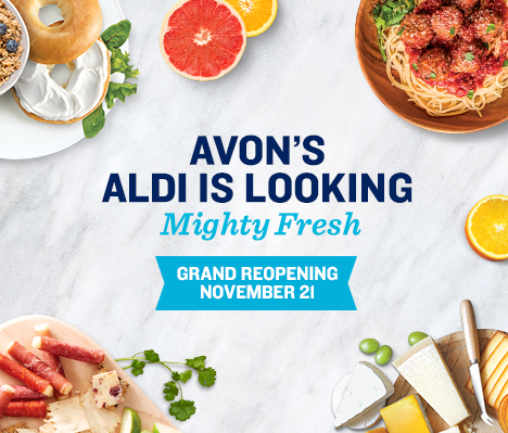 Avon's ALDI is looking mighty fresh. Grand Reopening November 21.