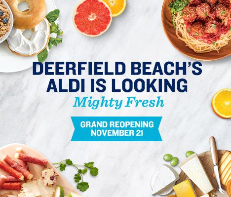 Deerfield Beach's ALDI is looking mighty fresh. Grand Reopening November 21.
