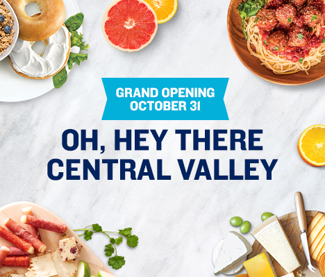 Grand Opening October 31. Oh, hey there Central Valley.