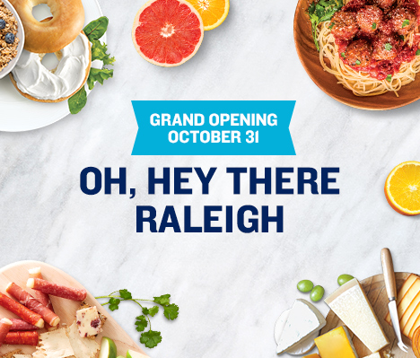 Grand Opening October 31. Oh, hey there Raleigh.