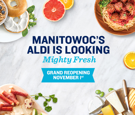 Manitowoc's ALDI is looking mighty fresh. Grand Reopening November 1.
