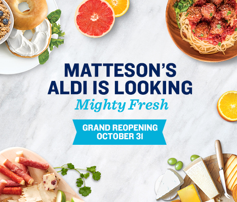 Matteson's ALDI is looking mighty fresh. Grand Reopening October 31.
