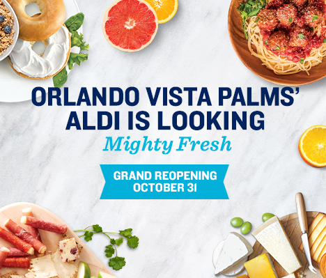 Orlando Vista Palms' ALDI is looking mighty fresh. Grand Reopening October 31.