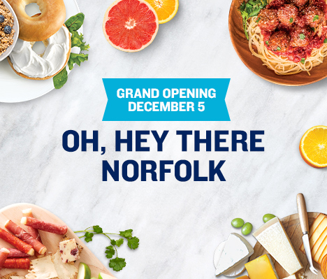 Grand Opening December 5. Oh, hey there Norfolk.