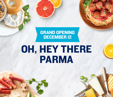 Grand Opening December 12. Oh, hey there Parma.
