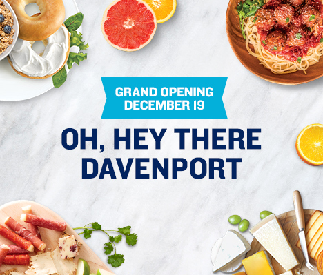 Grand Opening December 19. Oh, hey there Davenport.