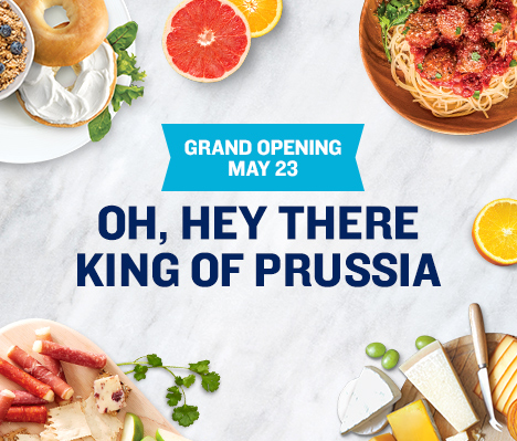 Grand Opening May 23. Oh, hey there King of Prussia.