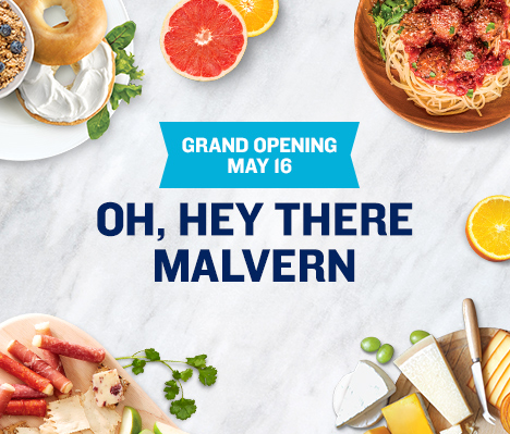 Grand Opening May 16. Oh, hey there Malvern.