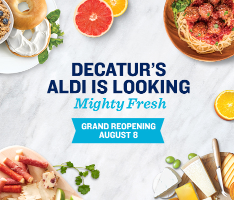 Decatur's ALDI is looking mighty fresh. Grand Reopening August 8.