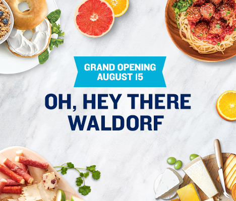 Grand Opening August 15. Oh, hey there Waldorf.