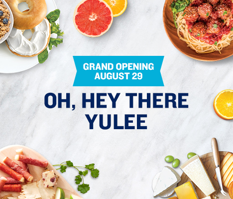Grand Opening August 29. Oh, hey there Yulee.