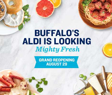 Buffalo's ALDI is looking mighty fresh. Grand Reopening August 29.
