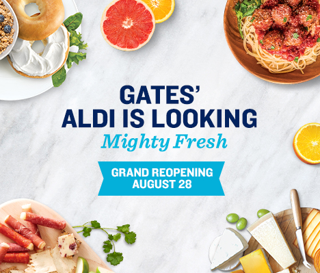 Gates' ALDI is looking mighty fresh. Grand Reopening August 28.