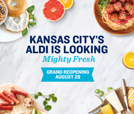 Kansas City's ALDI is looking mighty fresh. Grand Reopening August 28.