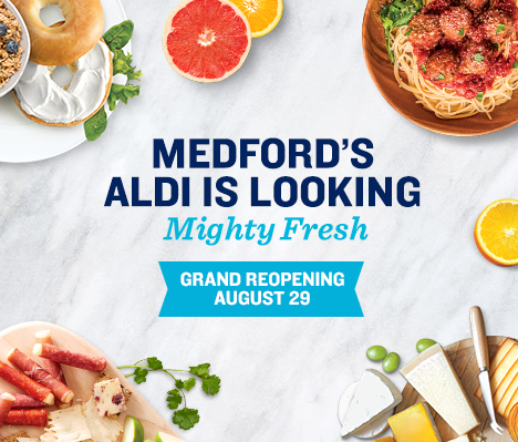 Medford's ALDI is looking mighty fresh. Grand Reopening August 29.