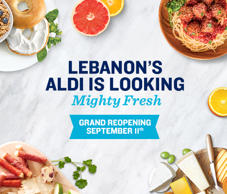Lebanon's ALDI is looking mighty fresh. Grand Reopening September 11.