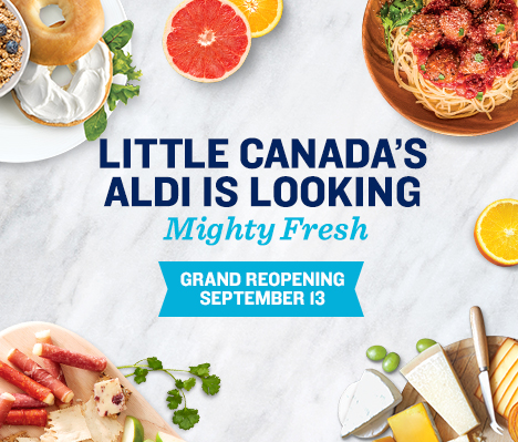 Little Canada's ALDI is looking mighty fresh. Grand Reopening September 13.