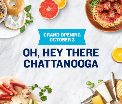 Grand Opening October 3. Oh, hey there Chattanooga.