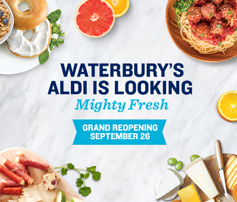Waterbury's ALDI is looking mighty fresh. Grand Reopening September 26.