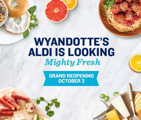 Wyandotte's ALDI is looking mighty fresh. Grand Reopening October 3.