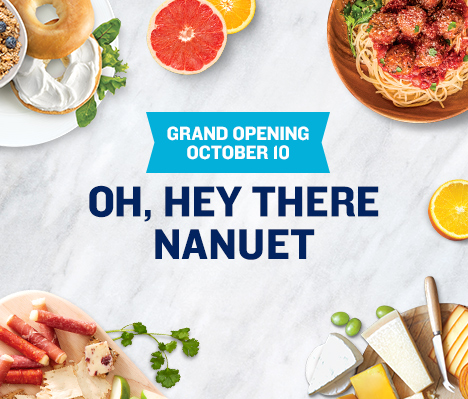 Grand Opening October 10. Oh, hey there Nanuet.