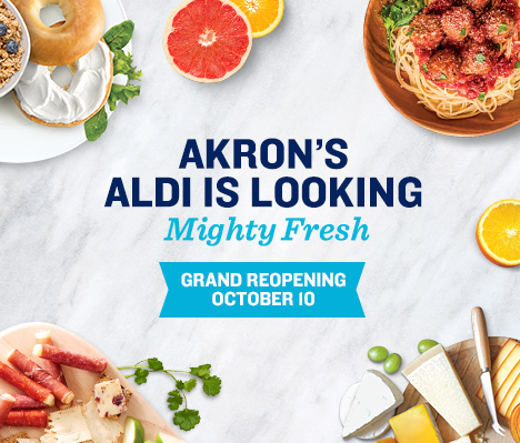 Akron's ALDI is looking mighty fresh. Grand Reopening October 10.