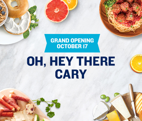 Grand Opening October 17. Oh, hey there Cary.