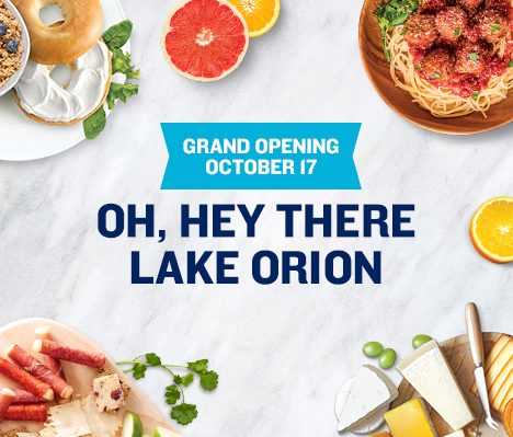 Grand Opening October 17. Oh, hey there Lake Orion.