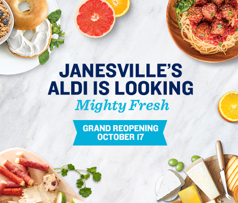 Janesville's ALDI is looking mighty fresh. Grand Reopening October 17.