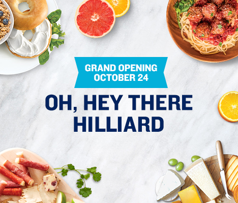 Grand Opening October 24. Oh, hey there Hilliard.