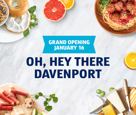 Grand opening January 16. Oh, hey there Davenport.