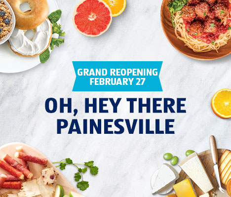 Grand reopening February 27. Oh, hey there Painesville