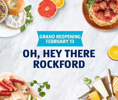 Rockford's ALDI is looking mighty fresh. Grand Reopening February 13.