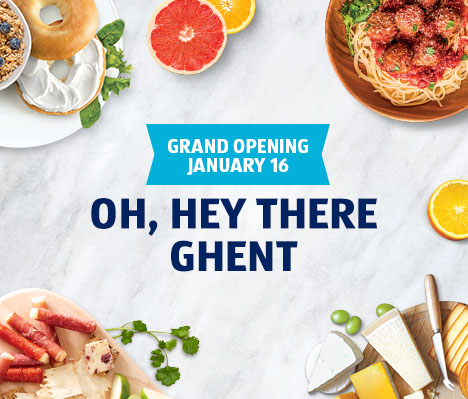 Grand Opening January 16. Oh, hey there Ghent.