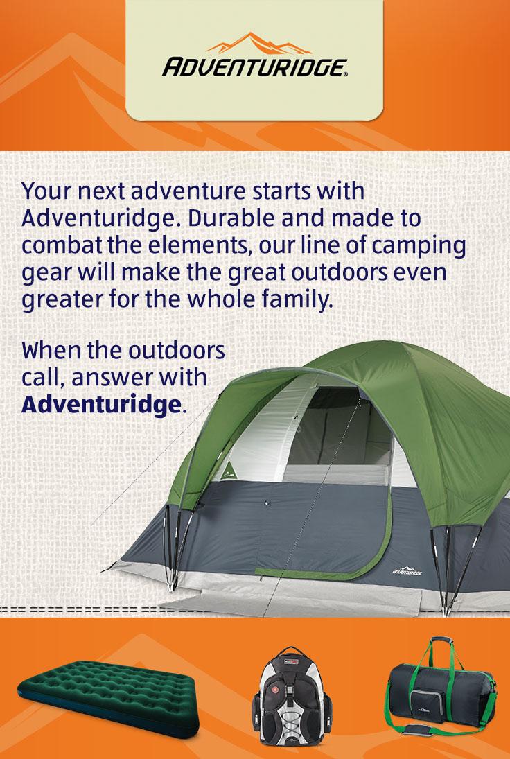 Adventuridge Hiking Tent Promotions