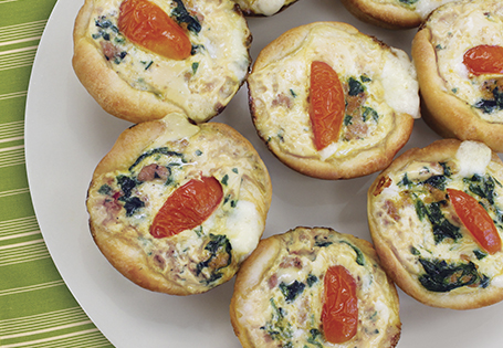 Mini Spinach-and-Cheese Pizzas Recipes — Dishmaps