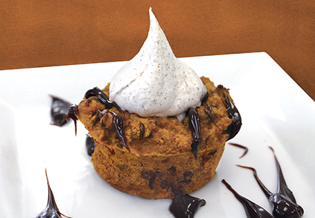 Mini Pumpkin Raisin Bread Puddings
