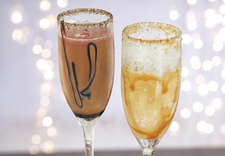 Chocolate Raspberry Champagne Cocktails