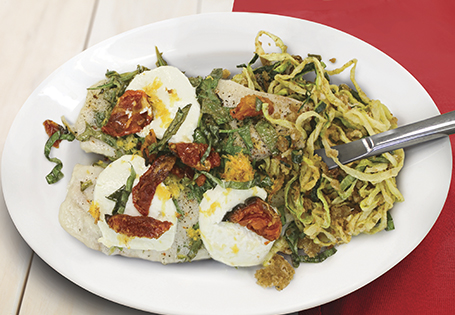 Broiled Holiday Tilapia with Parmesan Zucchini Noodles