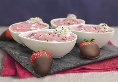 Chocolate Covered Strawberry Frozen Yogurt