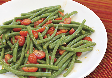 Sautéed Green Bean and Tomatoes