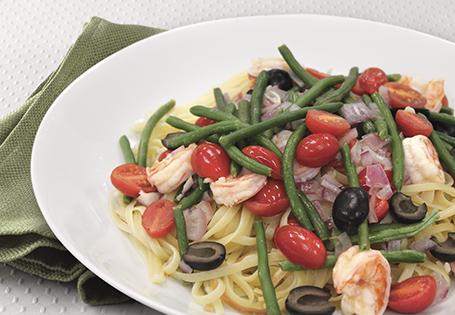 Shrimp Nicoise Pasta