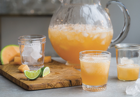 Homepage Recipes Better-For-You Beverages Cantaloupe Agua Fresca
