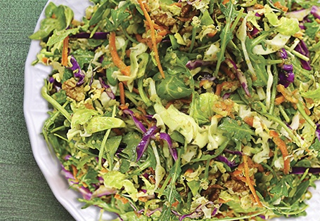 Crunchy Power Salad with Parsley Pesto Vinaigrette