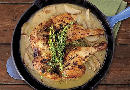 Ginger Spice Roasted Chicken with Pears