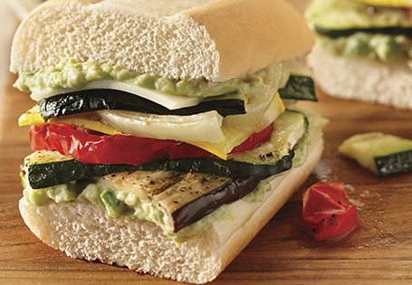 ... Recipes Main Vegetarian Roasted Vegetable and Provolone Sandwich